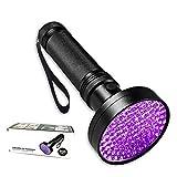 Bonim UV Flashlight, Handheld 100 LEDs Blacklight Flashlight Mini, Portable Powerful Black light Pet Urine Detector