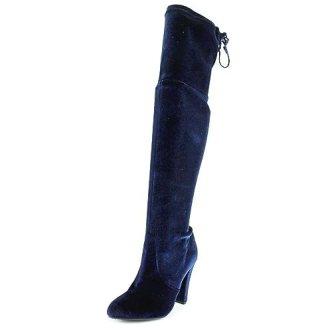 Steve Madden Gorgeos Navy Velvet Womens Knee High Boot 6M