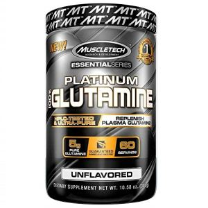 Muscle Tech Platinum 100 Percent Glutamine Supplement – 300 g