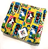 Luxury Throw Blanket Featuring Dogs at The Beach in Bathing Suits   Super Soft Plush   60' x 70'   Adorable!