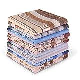 Men's Cotton Handkerchiefs, Ohuhu 12 Pack 100% Pure Cotton 4 Color Pocket Square Hankies/Pocket Handkerchiefs For Men, Great Gift For Father's