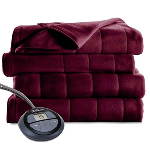 Sunbeam Heated Blanket | Microplush, 10 Heat Settings, Slate, King