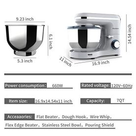 Nurxiovo-7QT-Tilt-Head-Stand-Mixer660W-Kitchen-Food-Mixer-with-Dishwasher-Safe-Dough-HookWhiskBeaterSplash-LidStainless-SteelElectric-Mixer-with-Strong-Suction-Cups