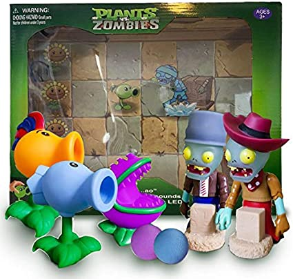 Amazon Com Plants Vs Zombies Gift Box Firepea Chomper And Snowpeas Toys Games