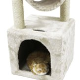 CUPETS-Cat-Tree-Beige-Flannelette-Cat-Climber-Play-House-Condo-Furniture-with-Scratching-Post-Activity-Tree-Pet-Products-for-Cats-36-Inches-High
