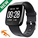 Sport Smart Watch Waterproof 1.3' Color Touchscreen Fitness Tracker Blood Pressure Monitor Bluetooth Activity Tracker Sleep Monitor Camera Kids Pedometer Android iOS Men Women Birthday Gift (Black)