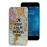 iPhone 7 Plus Case, HelloGiftify Keep Calm and Travel On Map Phone Case Plastic Hard Case Thin Cover for iPhone 7 Plus (5.5')