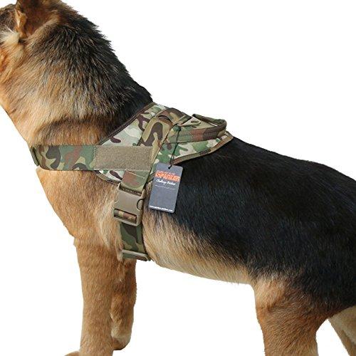 EXCELLENT ELITE SPANKER Tactical Dog Vest Training Military Patrol K9 Service Dog Harness Adjustable Nylon Dog Harness with Handle 1
