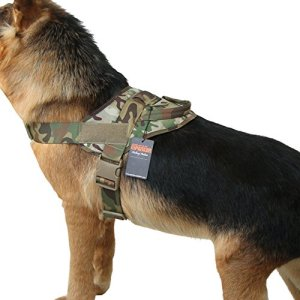 EXCELLENT ELITE SPANKER Tactical Dog Vest Training Military Patrol K9 Service Dog Harness Adjustable Nylon Dog Harness with Handle