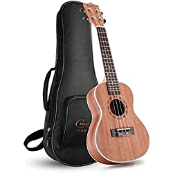 Hricane Concert Ukulele UKS-1 23inch Professional Ukulele Starter Small Guitar Hawaiian Guitar Bundle with Gig Bag