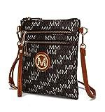 MKF Crossbody Purse for women - Removable Adjustable Strap - Vegan leather wristlet Designer messenger bag Brown
