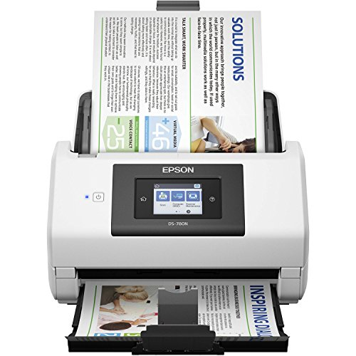 Epson DS-780N Network Color Document Scanner for PC and Mac, 100-page Auto Document Feeder (ADF), Duplex Scanning