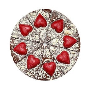 Luxury 7 inch Chocolate Pizza with Hearts 51feWXmUkvL