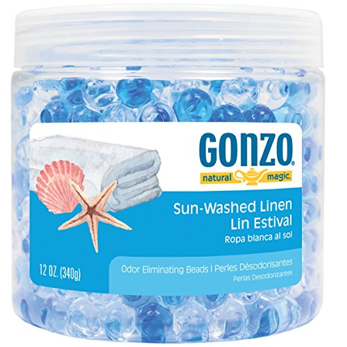 Gonzo Natural Magic Fragrance Beads - Odor Absorbing - 12 Ounce - Sun Washed Linen