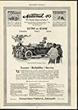 National Motor Vehicle Luxurious Reliable Cars 1913 antique advertising print
