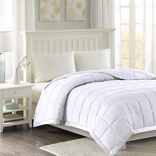Madison Park Windom Microfiber Down Alternative Stain Resistant Blanket, Full/Queen, White