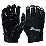 Franklin Sports Hi-Tack Premium Football Receiver Gloves - Black - Adult Medium