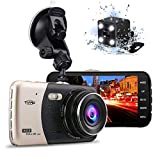Tvird Dash Cam 1080P Dash Camera [Newest Updated] 170°Wide Angle Car DVR with 4' LCD Screen,Front and Rear Dual Channel Dashboard Camera,G-Sensor,Motion Detection,Parking Monitor,WDR,Loop Recording