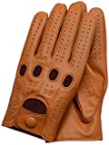 Riparo Genuine Leather Driving Gloves (Medium, Tan)