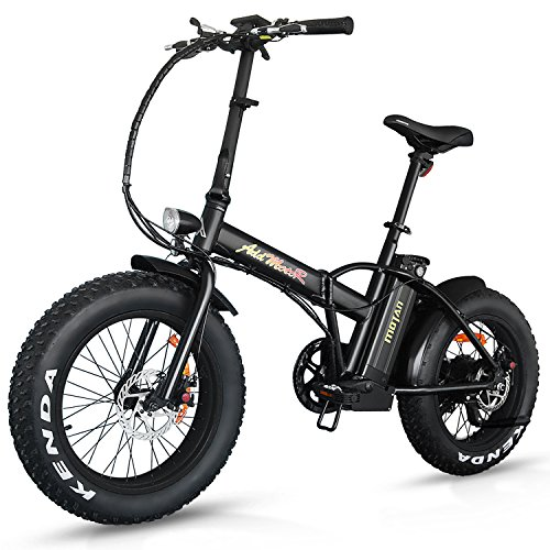 Addmotor MOTAN Mountain Electric Bikes 20Inch Fat Tire 500W 48V 4 Colors Folding Electric Bicycles M-150 E-bike Maximum Load Up to 300lbs(Black)