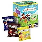 MySuperCookies Organic Whole Grain, Healthy Snacks for Kids - 24 Snack Packs, Peanut & Tree Nut Free, Kosher