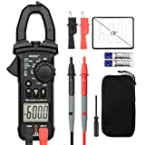 Digital Clamp Meter Multimeters MESTEK AC DC Multimeter Current Voltage Voltmeter Autoranging Electric Tester Ohm Hz Amp Volt Diode Resistance 6000 Counts NCV VFC Accurate Test Kit