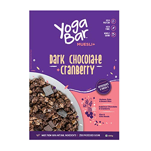 Yogabar Wholegrain Breakfast Muesli - Dark Chocolate + Cranberry, 400g 2