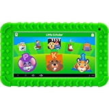 "School Zone Little Scholar Best Kids 7"" Tablet, Ages 3-7, PreK-1st Grade, +Bumper, Android, Quad-Core, 16 GB, Wi-Fi, Front & Rear Camera, Green (08611)"
