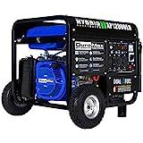 DuroMax 12,000 Max 9,500 Running Watts Dual Fuel Electric Start Portable Generator, XP12000EH