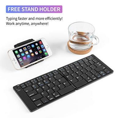 Samsers-Foldable-Bluetooth-Keyboard-Portable-Wireless-Keyboard-with-Stand-Holder-Rechargeable-Full-Size-Ultra-Slim-Folding-Keyboard-Compatible-IOS-Android-Windows-Smartphone-Tablet-and-Laptop-Black