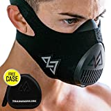 Training Mask 3.0 Workout Elevation Performance Fitness Mask for Running and Breathing Mask, Cardio Mask, Official Training Mask Used by Pros (All Black + Case, Medium)