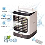 MORE1 Mini Portable Personal Air Cooler, Humidifiers, Small Movable Air Conditioner, Purifiers with Cooling Fan and The Evaporation of Water for Home, Bedroom,Indoor, Outdoor,Office
