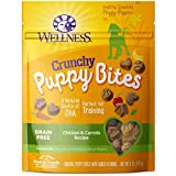 Wellness Crunchy Puppy Bites Natural Grain Free Puppy Training Treats, Chicken & Carrots, 6-Ounce Bag