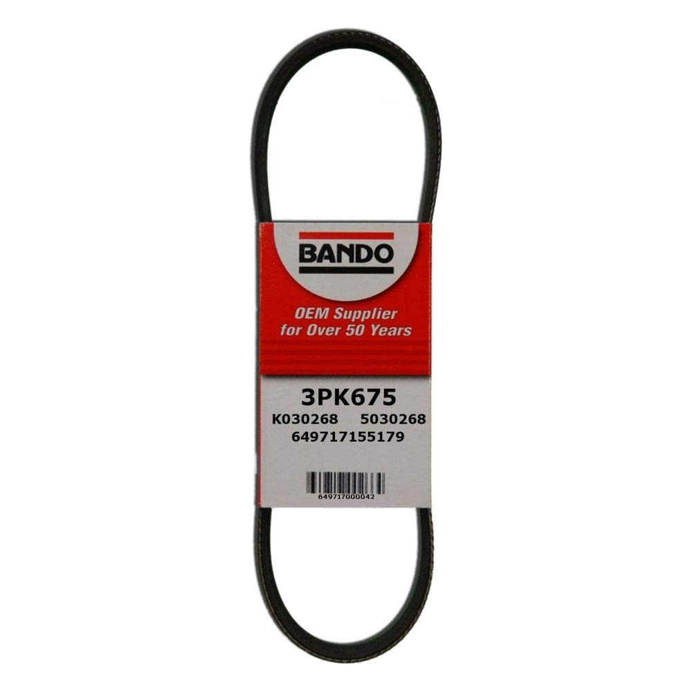 Best Power Steering Belt Bando USA 3PK675 Belts