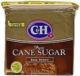 C&H, Cane Sugar, Dark Brown, 2lb Bag (Pack of 2)