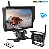 "Wireless Backup Camera,Rear View Camera and Monitor Kit Waterproof Parking Assistance System for Car/Truck /Mini Van/Caravan / Trailers/Camper with 7"" HD LCD Night Vision RC 12V-24V Accfly (L)"