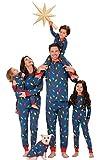 PajamaGram Matching Christmas PJs for Family, Christmas Lights, 14 Blue