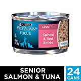 Pro Plan Canned Cat Food, Senior Ground Salmon and Tuna Entrée, 3-Ounce Cans (Pack of 24)