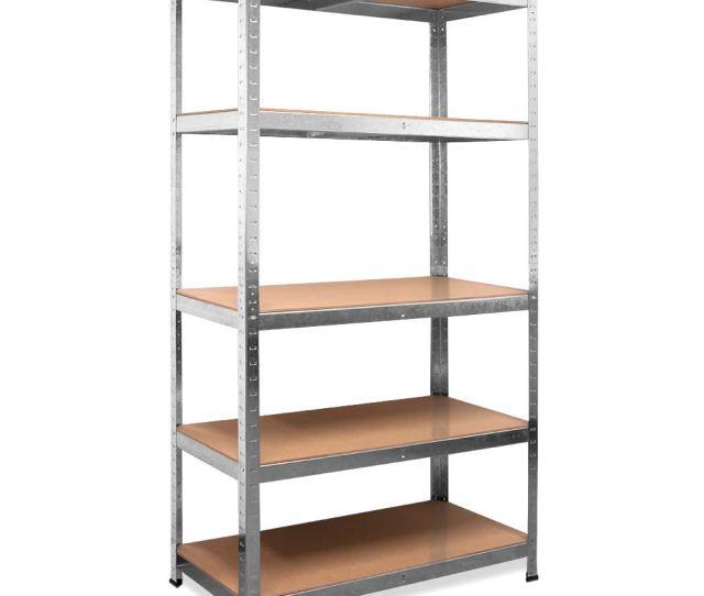Deuba Heavy Duty Industrial Storage Shelving Unit 875kg Shelves Metal Racking For Garage Shed Shelf Rack 180x90x40cm Amazon Co Uk Diy Tools
