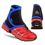 Azarxis Low Trail Gaiters Protective Shoe Covers Wrapid Gators for Men & Women & Youth Running Hiking Climbing (Blue & Black)