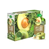 Happy Baby Organic Clearly Crafted Stage 2 Baby Food Apples, Kale & Avocados, 4 Ounce Pouch (Pack of 16)
