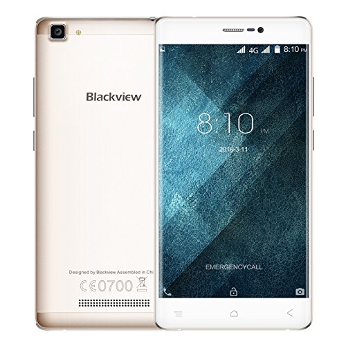 Blackview A8 Max 2GB + 16GB 5.5 Inch Android 6.0 Smartphone MTK6737 Quad Core 1.3GHz GSM & WCDMA & FDD-LTE (Gold)