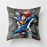 Throw Pillow Cover super man mighty Pillow Case with Thermal Material And Consolation for Everyday Teen Girls/Women