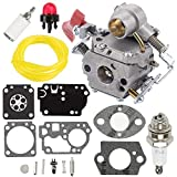 Fuel Li Carburetor + RB-168 Carb Repair Rebuild Kit for Zama C1M-W44 Poulan PP133 Pro PP333 PP338PT Craftsman 358791170 358791140 358795920 Trimmer 33cc Carb 545189502 545008042