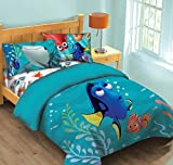 Disney Finding Dory Fish Finder Full Comforter Set w/Fitted Sheet