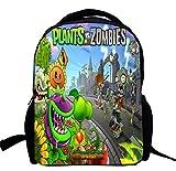 AUGYUESS Kids 3-6 Years Old Game Plants vs. Zombies Backpack School Bag Daypack Bookbag Shoulder Bag