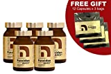 NatureMedic Fucoidan AHCC Brown Seaweed Immunity Supplement with Organic Mekabu Mozuku Agaricus 5 Bottles and FREE 3 Bags of 12 Capsules 836 Vegetable Capsules Made in Japan