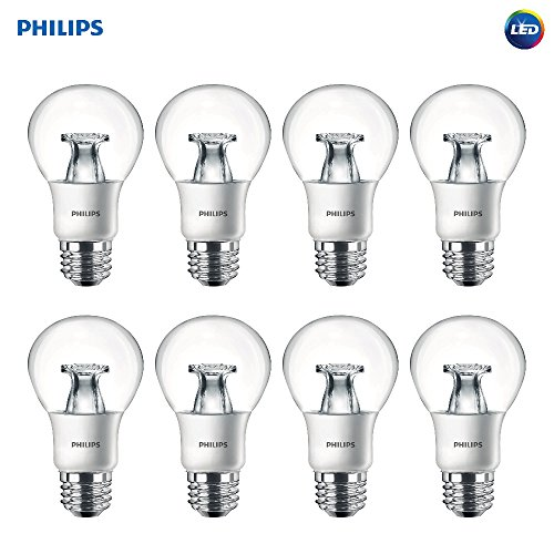 Philips LED A19 Non-Dimmable 800-Lumens 8.5-Watt Light Bulb with E26 Medium Base, Soft White, 8-Pack