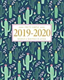 Pretty Simple Planners Weekly and Monthly Cactus Planner: Calendar Schedule + Organizer | Inspirational Quotes (2019-2020 Academic Planners July 2019 through July 2020)