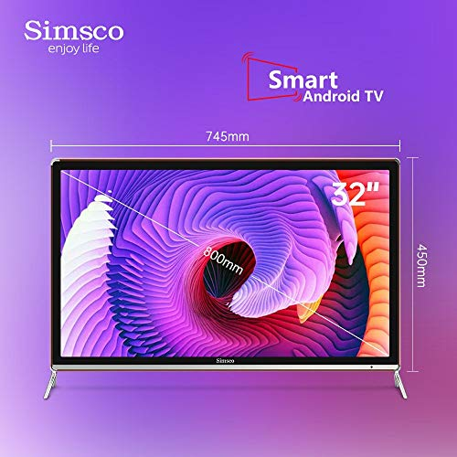 """Simsco 80 cm (32 Inches) HD Ready Smart Android LED TV S32""""ST (Gold And Black) (2020 Model) 5"""
